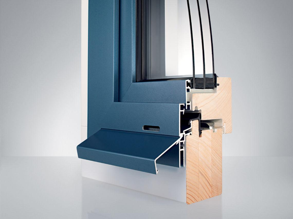 Holz aluminium fenster topdesign innenausbau for Fensterelemente kunststoff